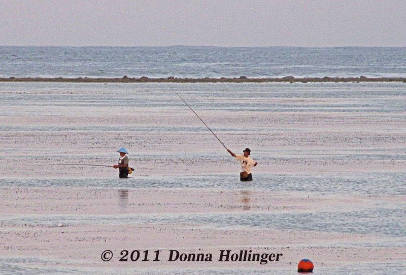 Fishing on the Beach at Tandjung Sari
