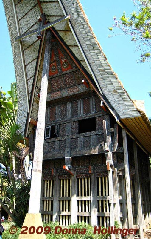 Toraja House (detail of tiles)