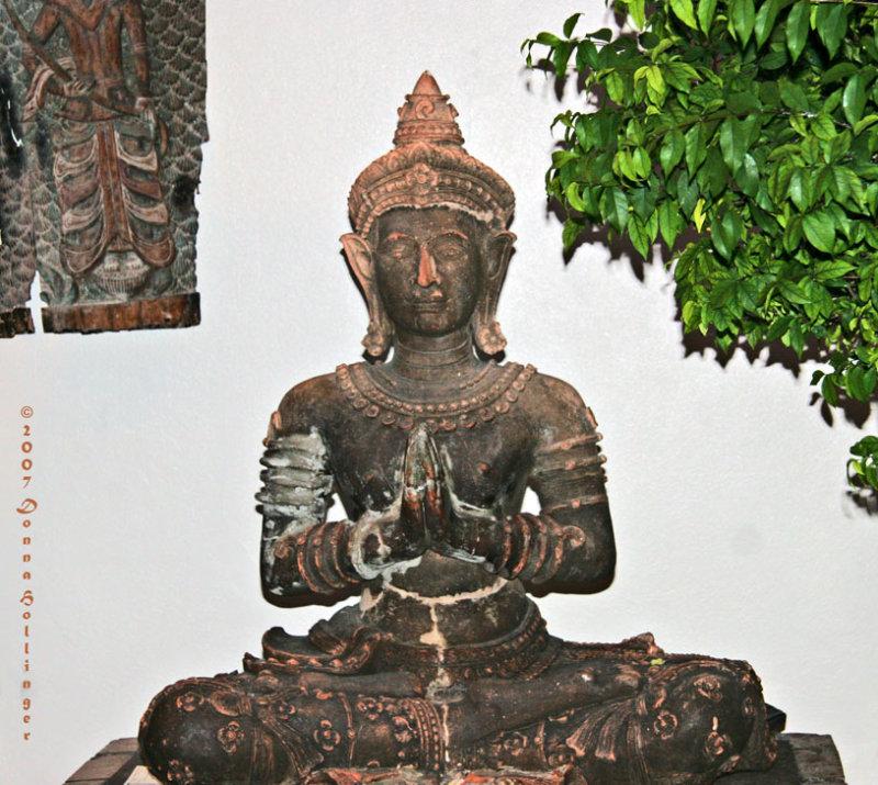 Wooden Buddha in Bangkok