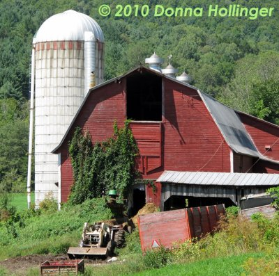 Working Dairy Farm Barn and Silo