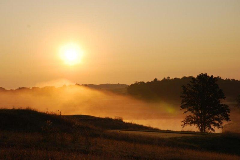 Sunrise on the Golf Course