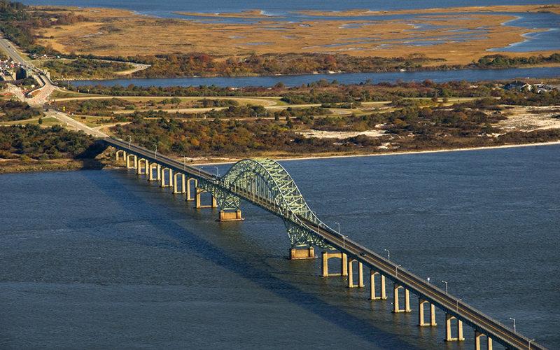 Robert Moses Bridge aerial