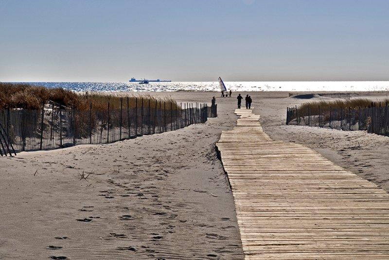 winter beach, Nickerson Beach, Nassau County