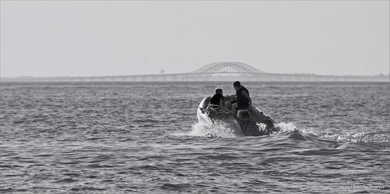 Dingy on Great South Bay