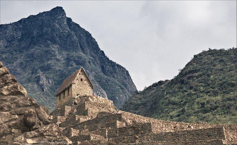 Machu Picchu mountain backdrop