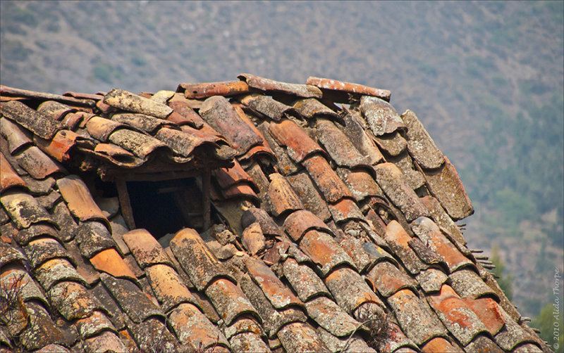 old clay roof