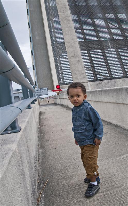 Oliver on bridge