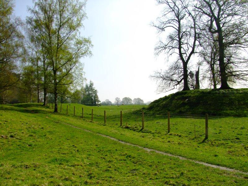Kingsland motte and dry moat.