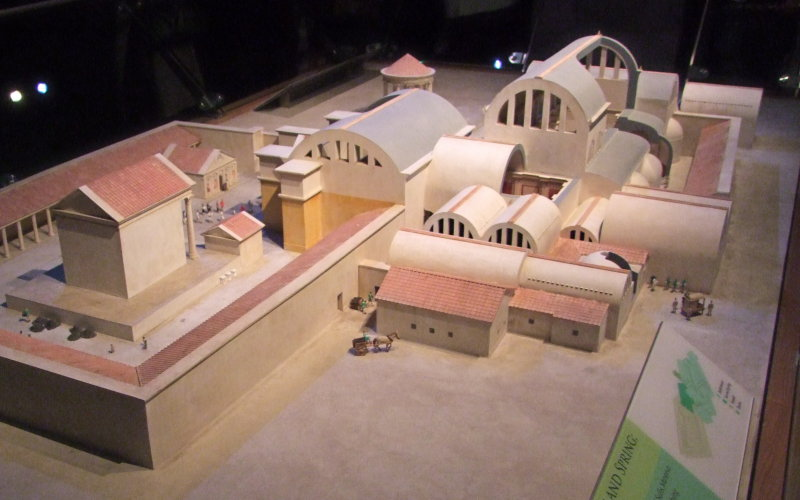 And grander 3D models of the Spa in Roman Times
