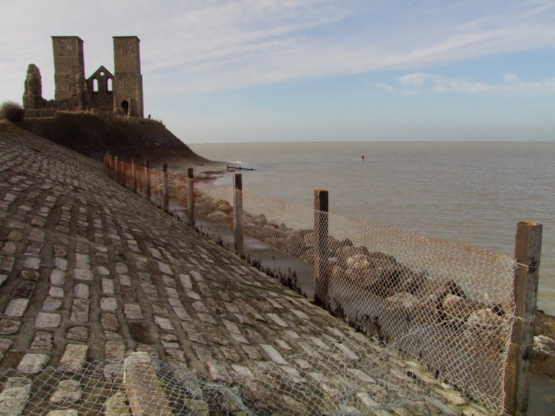 Sea  defences  at  Reculver.