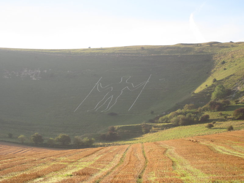The Long Man in close up.
