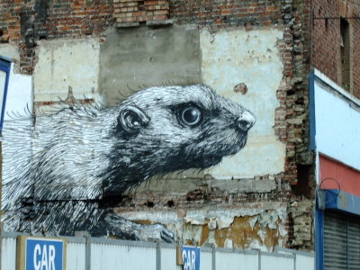 Graffiti  in  Hackney  Road.