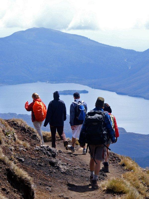 Walkers and Lake Rotoaira