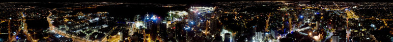 360º view from sky tower, auckland