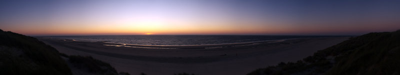 Northsea Sunset Panorama