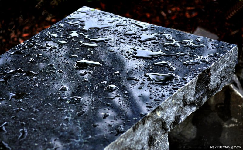 Wet Marble Bench
