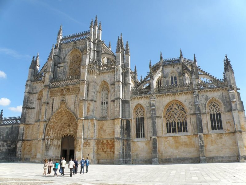 the manueline abbey at Batalha