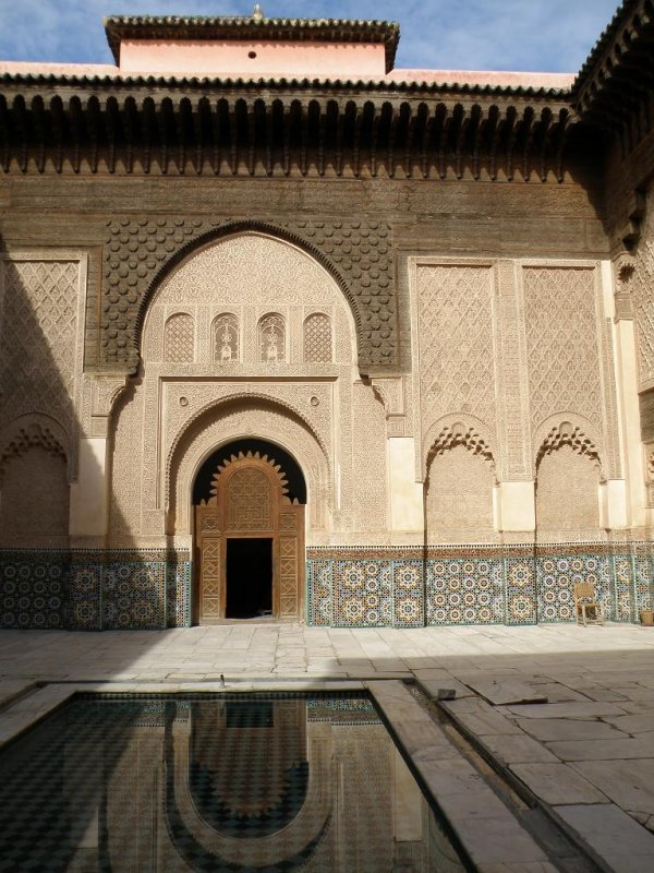 in the Medersa ben Youssef (a 16th-c. Koranic school)