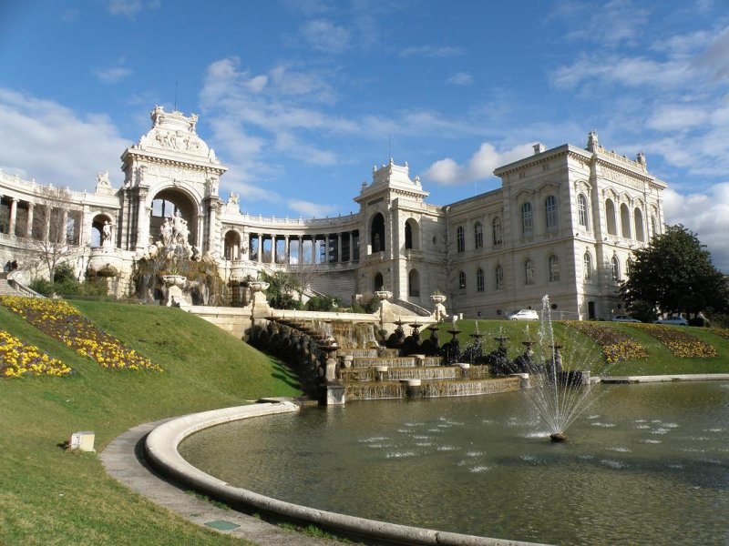 the Longchamp palace and natural history museum