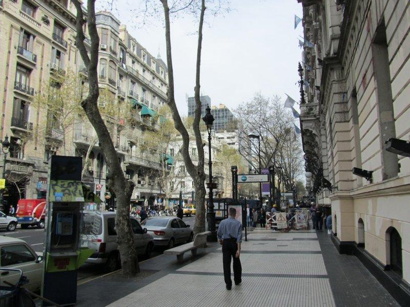 heading up Avenida de Mayo