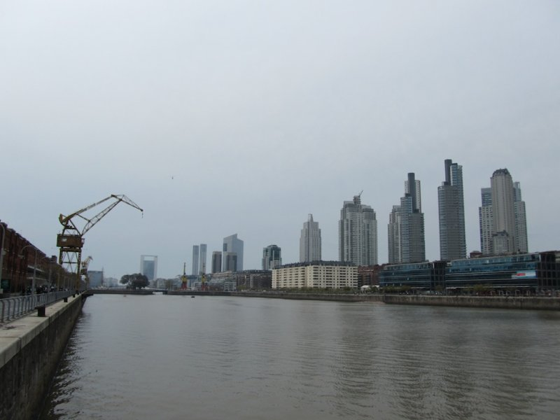 along the docks of the Puerto Madero