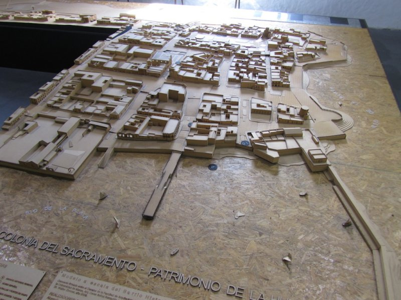 a model of the old town in a city museum