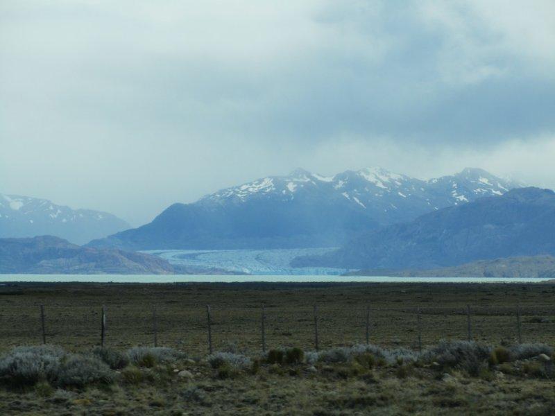 the Viedma glacier in the distance