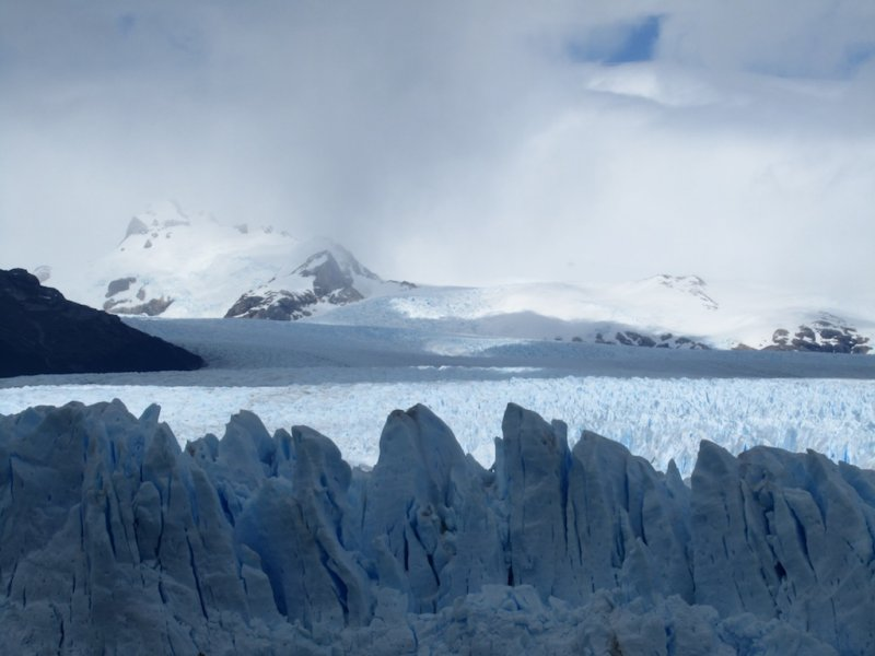 looking up along the glacier