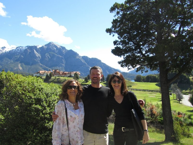 with our friends Andy and Damasia, who gave us a great tour of the lakes and mountain vistas