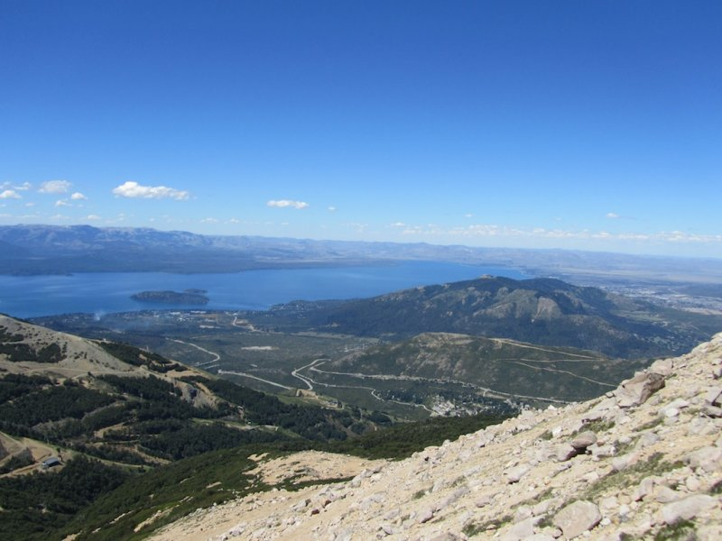 looking toward the west end of Bariloche