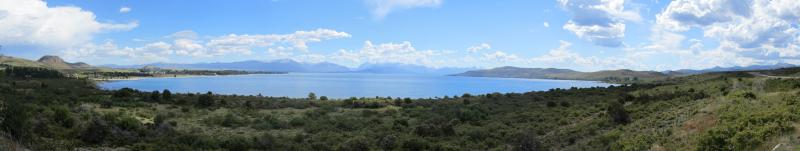 a panorama of the Lago Nahuel Huapi