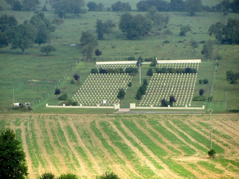 ...here, a French military cemetery near Brieulles-sur-Meuse