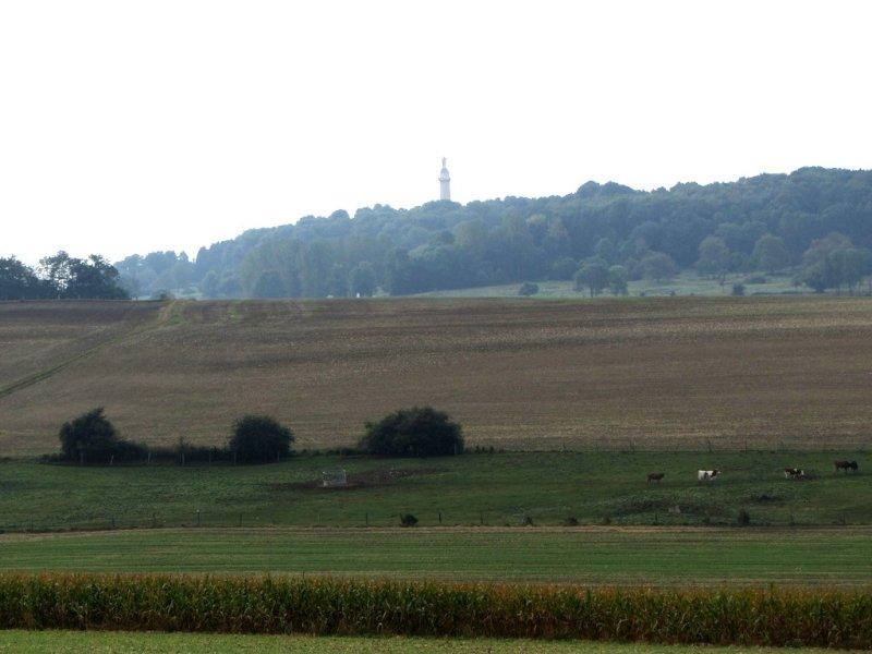 in the distance, the American monument on the butte of Montfaucon-dArgonne