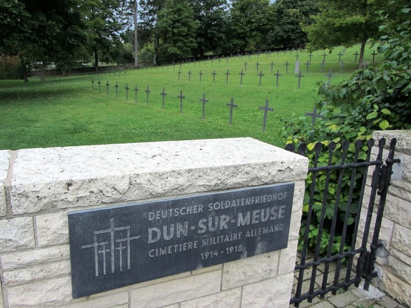 ...as well as the German soldiers who died here...