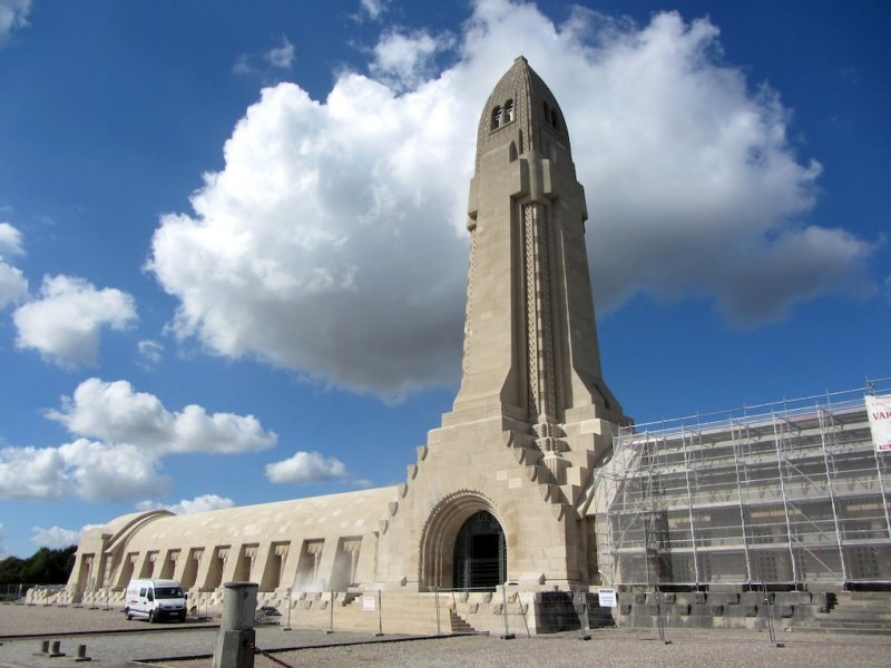 here is the French & German ossuary at Douaumont, holding the remains of over 200 thousand unknown Verdun dead...