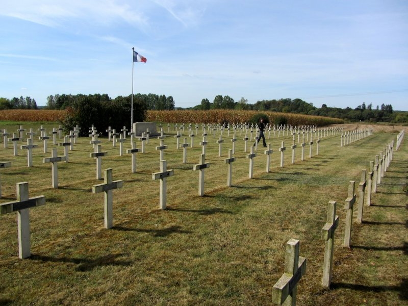 ...but there is also a small military cemetery across the road