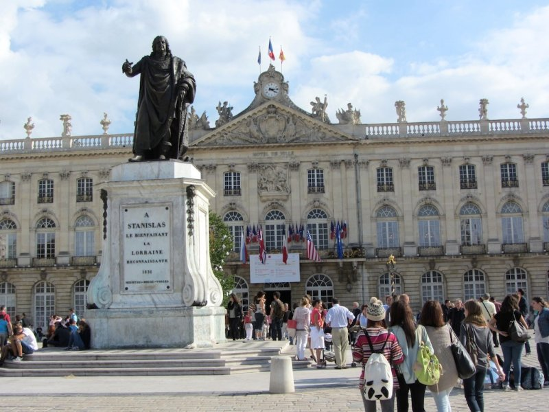 were visiting Nancy, in the eastern French region of Lorraine