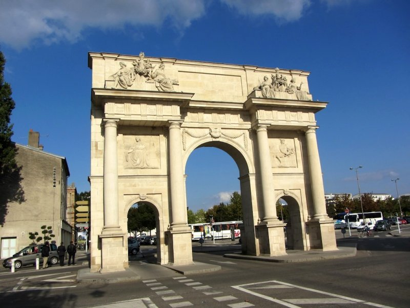 another historic gate, the Porte Ste-Catherine...