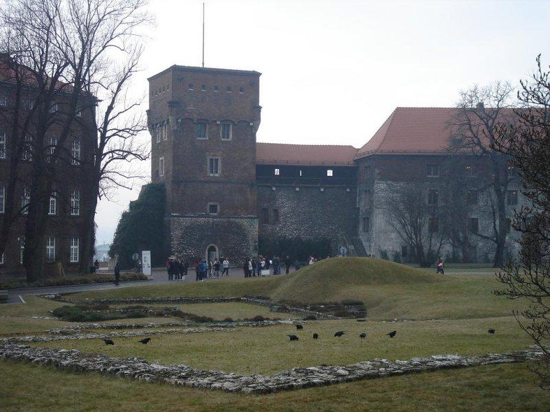 inside the castle walls