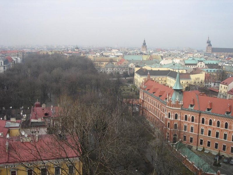 view toward the town center