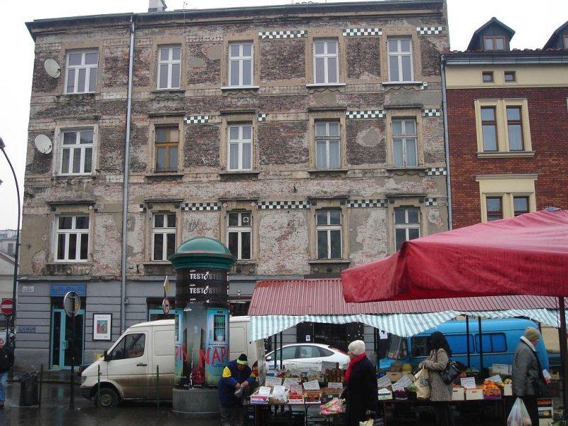 the local market square