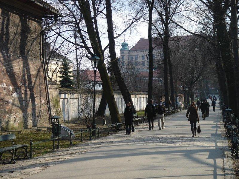 on the planty toward Wawel castle