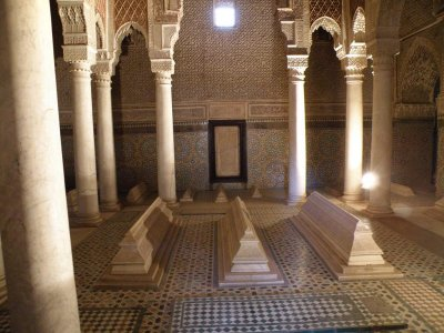 at the Saadian tombs (16th c.)