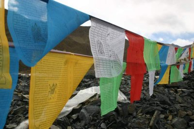 Prayer Flags Yamdrok Lake
