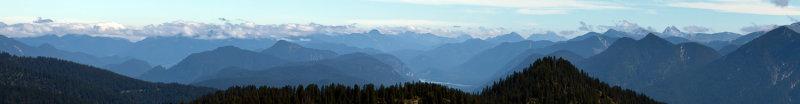 Panoramablick vom Wank Richtung Walchensee