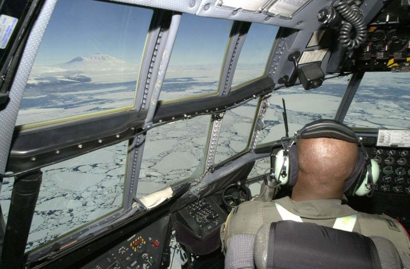 Mount Erebus from a C-130