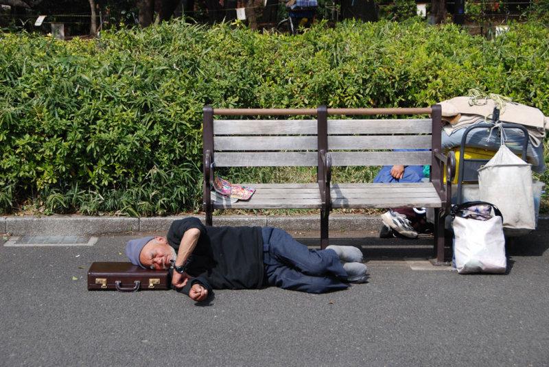 Street person, Ueno Park, Tokyo