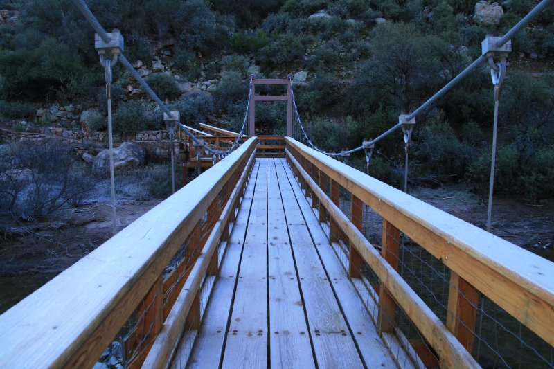 Icy frost on the Suspension Bridge