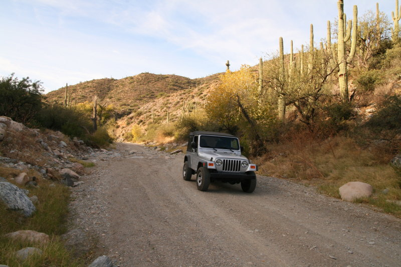 The Jeep in Whitford Canyon