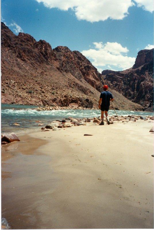 David on Sandy Seach Below River Trail